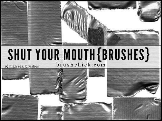 Shut Your Mouth - Duct Tape Brushes Photoshop brush