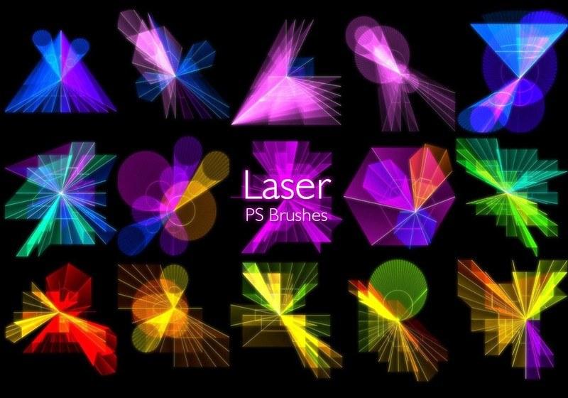 20 Laser PS Brushes abr. vol.10 Photoshop brush
