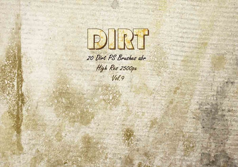 20 Dirt Brushes abr.vol.9 Photoshop brush