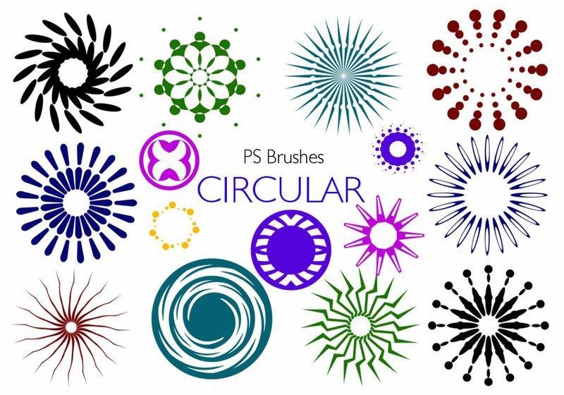 20 Circular PS Brushes abr. Vol.7 Photoshop brush