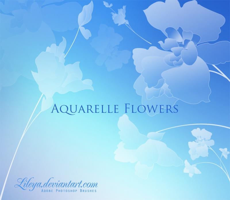 Aquarelle Flowers Photoshop brush