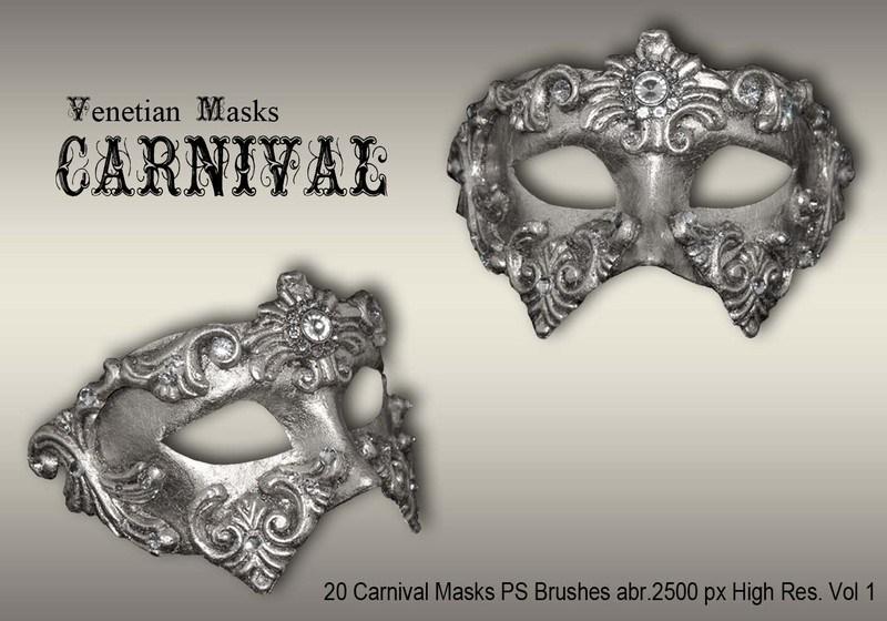 20 Carnival Masks PS Brushes abr.vol.1 Photoshop brush