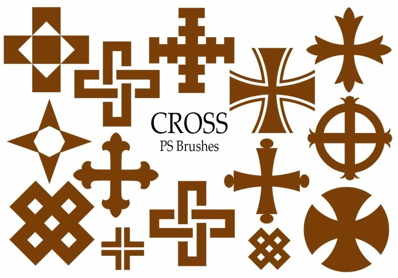 20 Cross PS Brushes abr.Vol.8 Photoshop brush