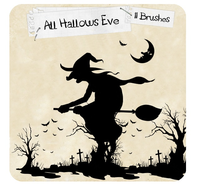 All Hallow's Eve Photoshop brush