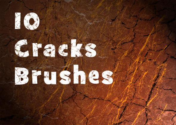 10 Hi Def Cracks Brushes Photoshop brush