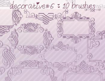 Decorative Brushes 6 Photoshop brush
