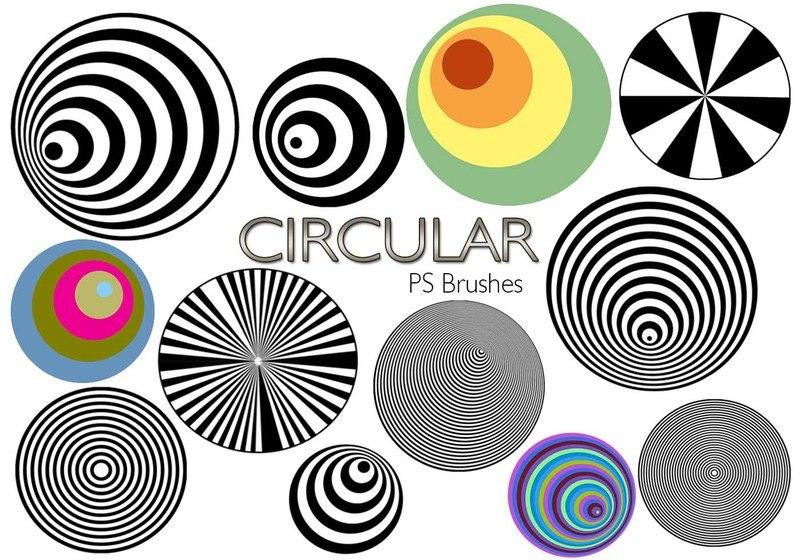20 Circular PS Brushes abr. Vol.3 Photoshop brush