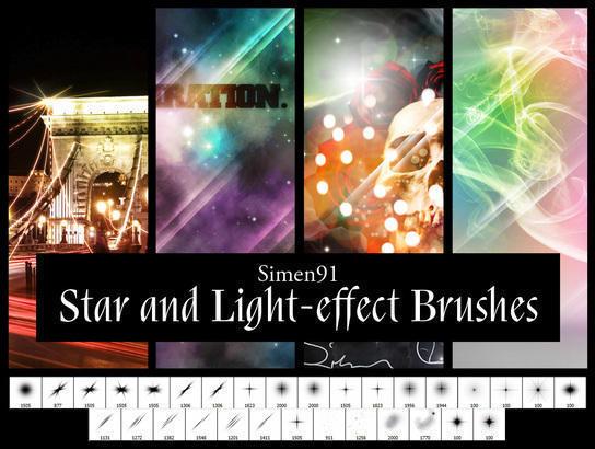 Simen 91's Star and Light-effect Brushes Photoshop brush