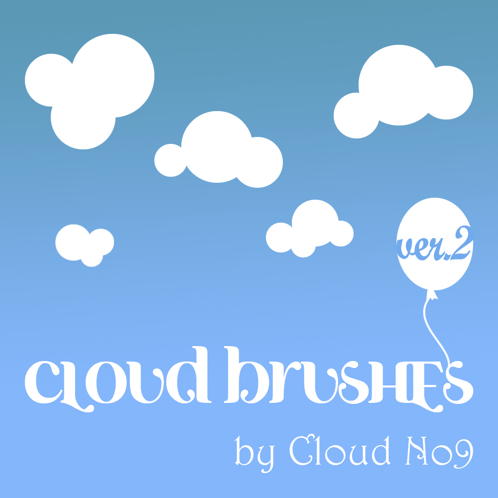 Cloud Brushes ver.2 Photoshop brush