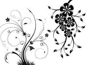 Free Floral Swirls Brushes Photoshop brush