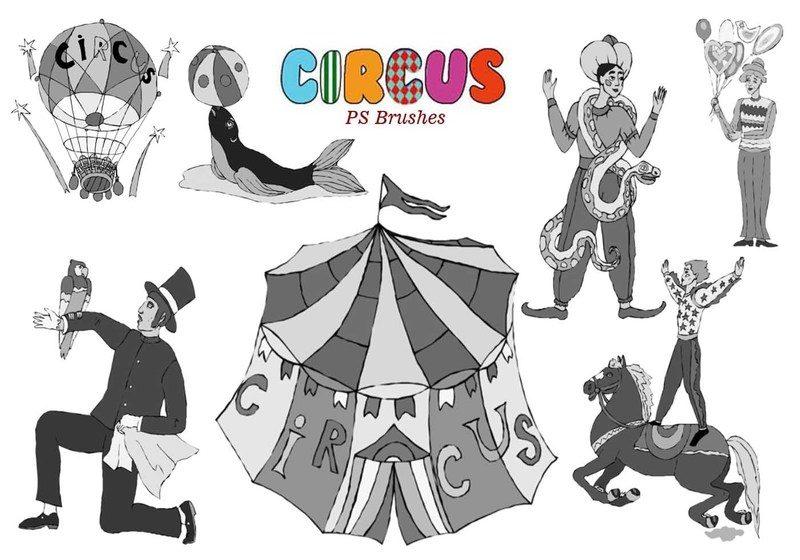 20 Circus Ps Brushes  Photoshop brush