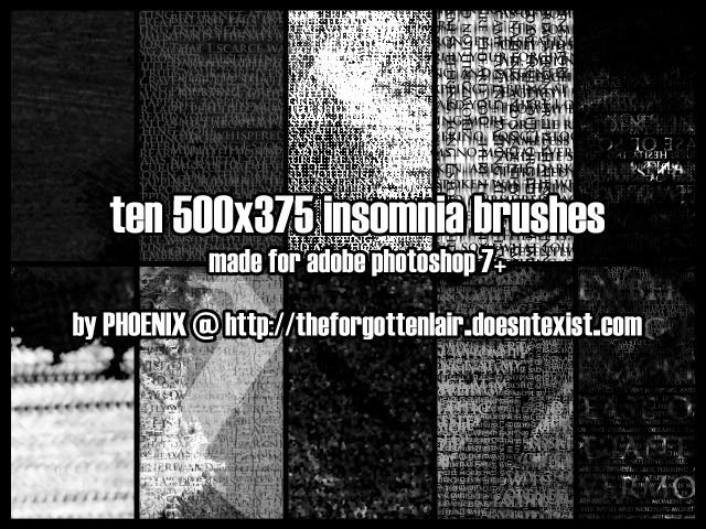 Insomnia Brushes Photoshop brush