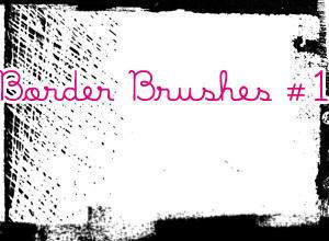 Border Brushes 1 Photoshop brush