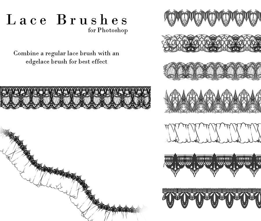 Lace Photoshop Brushes Photoshop brush