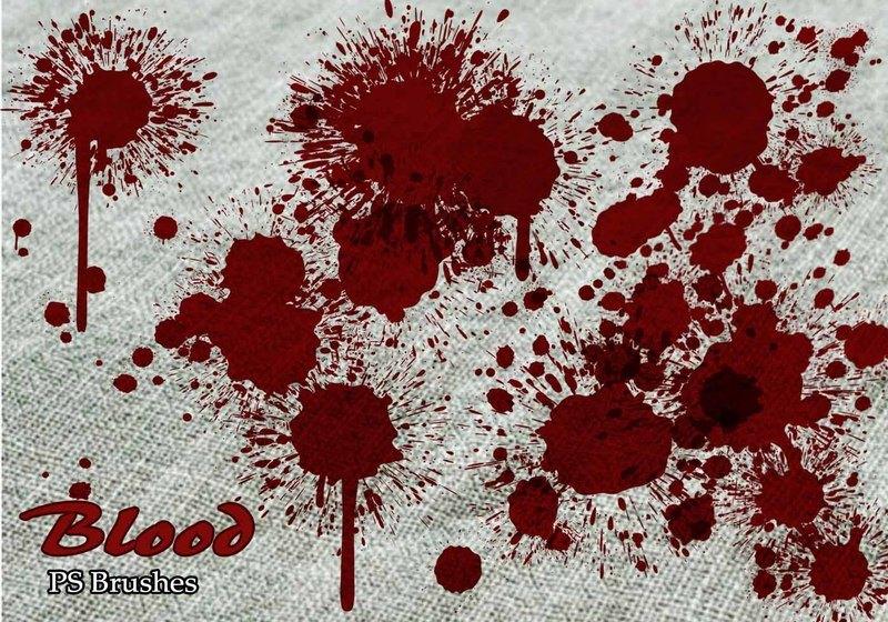 20 Blood Splatter PS Brushes abr vol.6 Photoshop brush