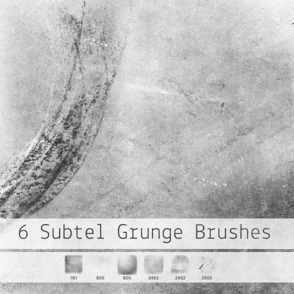 6 Subtle Grunge Brushes Photoshop brush
