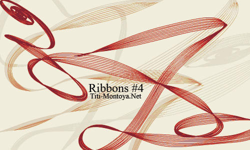 Ribbons 4 Photoshop brush
