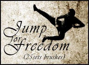 Jumping Brushes for freedom (25 set Brushes) Photoshop brush