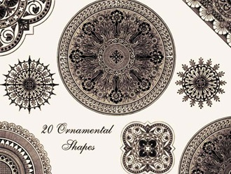 Ornamental Shapes Photoshop brush