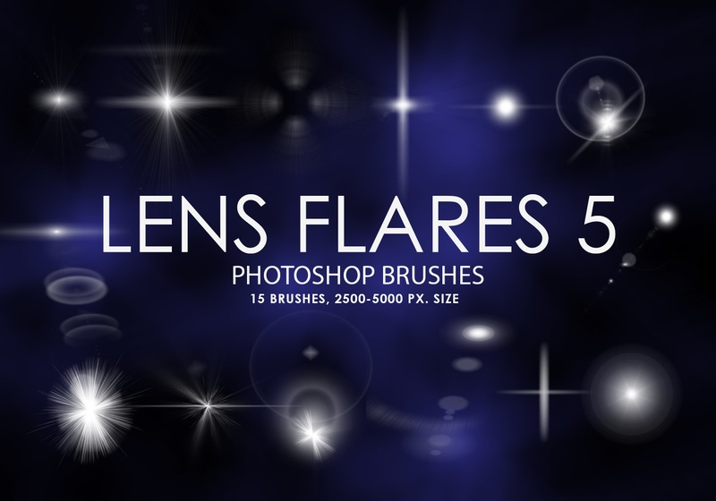 Free Lens Flares Photoshop Brushes 5 Photoshop brush