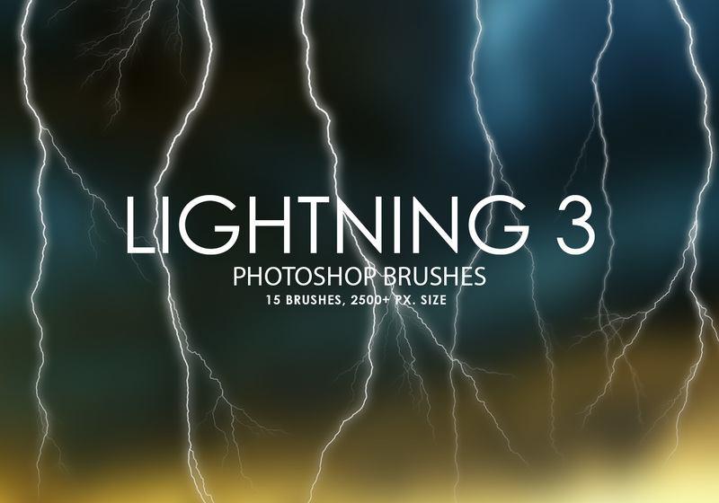 Free Lightning Photoshop Brushes 3 Photoshop brush