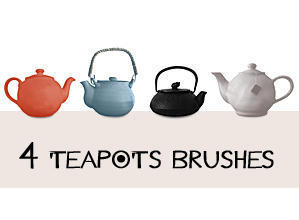 4 Teapots Brushes Photoshop brush