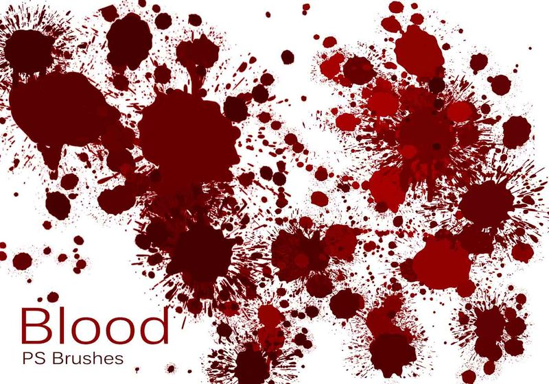 20 Blood Splatter PS Brushes abr vol.4 Photoshop brush