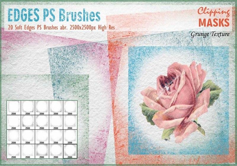 Soft Edges Mask PS Brushes Photoshop brush