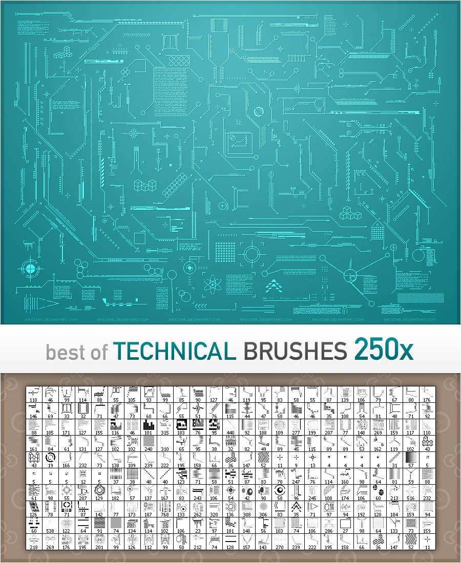 Technical Brushes Photoshop brush