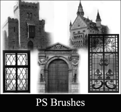 Castle brushes Photoshop brush