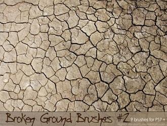 Broken Ground Photoshop brush