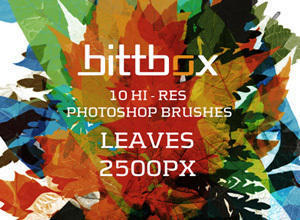 High-Res Leaves Photoshop brush