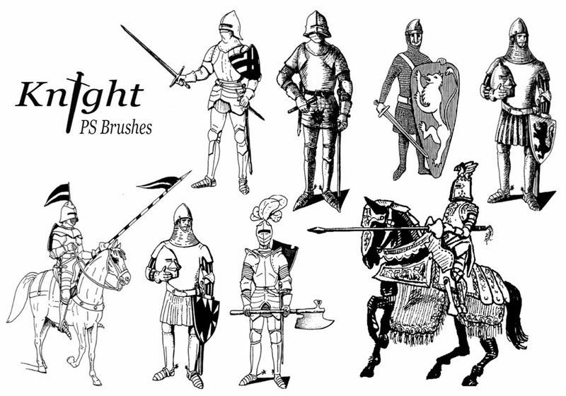 20 Knight PS Brushes abr.  Photoshop brush
