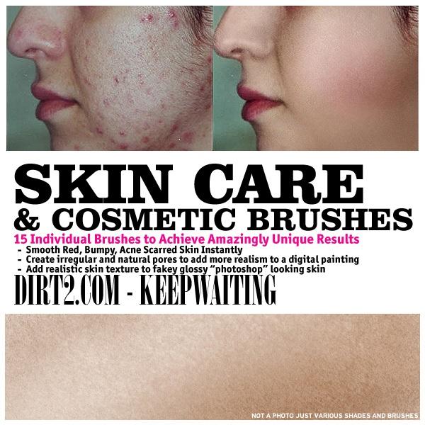 Skin Care and Cosmetic Brushes Photoshop brush