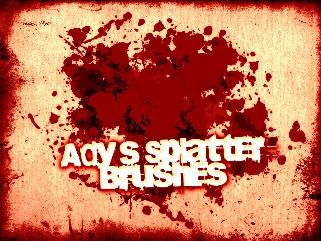 Ady's Splatter Brushes Photoshop brush