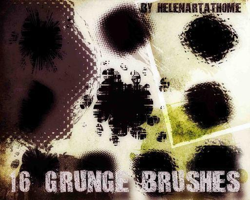 Grunge Brushes1 Photoshop brush