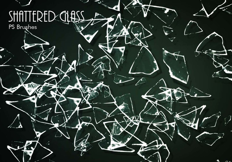20 Shattered Glass PS Brushes abr.vol.6 Photoshop brush