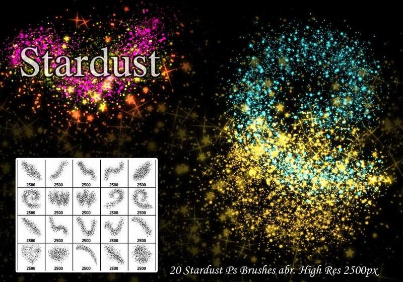 20 Stardust Ps Brushes abr. Photoshop brush