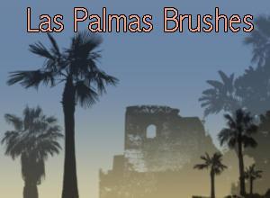Las Palmas Palm Tree Brushes  Photoshop brush