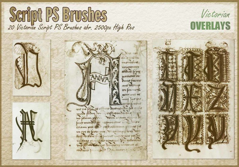 Victorian Script PS Brushes abr. Photoshop brush