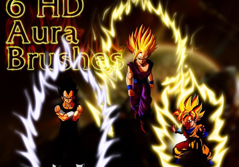 Dragon Ball Aura Brushes, Set 2 Photoshop brush