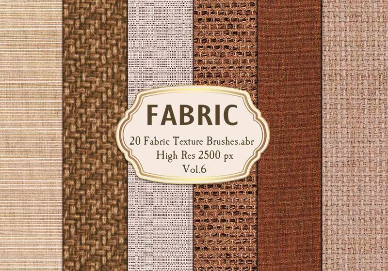 20 Fabric Texture Brushes.abr Vol.6 Photoshop brush
