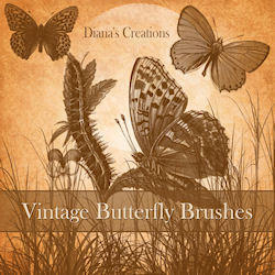 Vintage Butterfly Brushes Photoshop brush