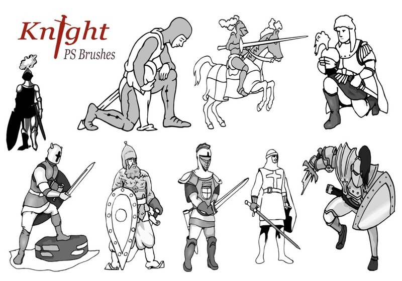 20 Knight PS Brushes abr.vol.2 Photoshop brush