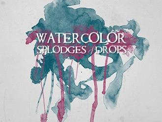 Watercolor Splodges Photoshop brush