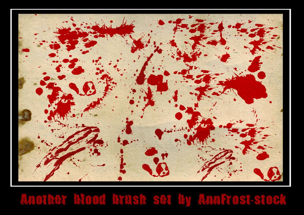 Another blood brush set Photoshop brush