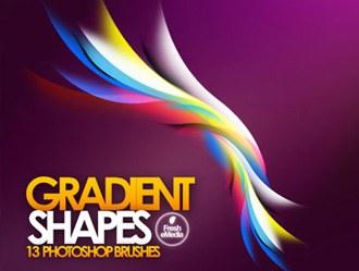 Gradient Shapes Photoshop brush