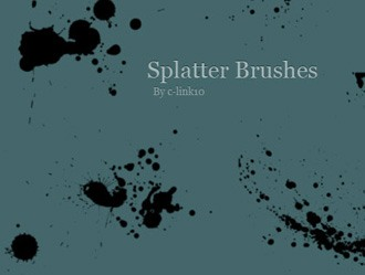 Splatter Brush Pack Photoshop brush