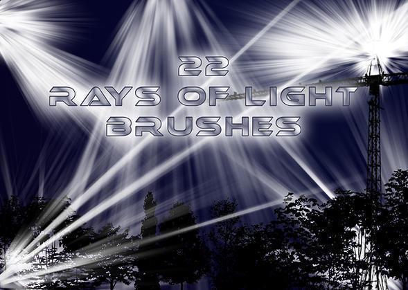 22 Rays of Light Brushes Photoshop brush