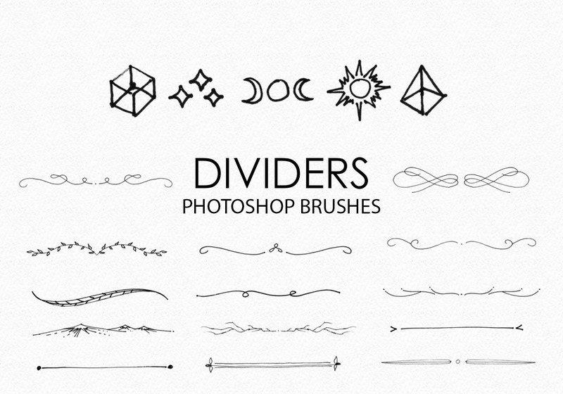 Free Hand Drawn Dividers Photoshop Brushes Photoshop brush